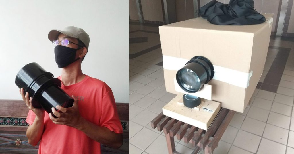 Building a 16×20 Camera with a Giant Aerial Lens and Cardboard