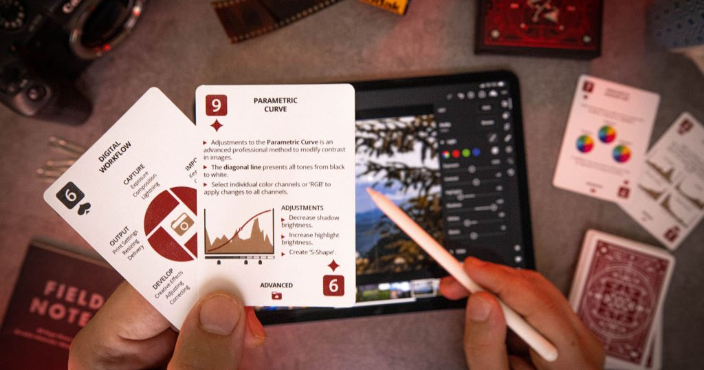These Playing Cards Double as Photo-Editing Cheat Sheets