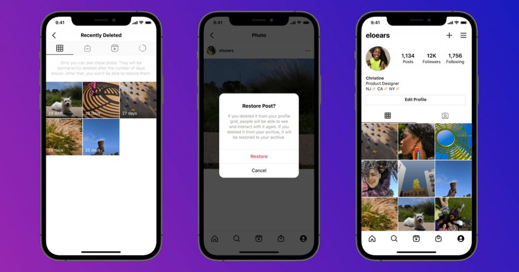 You Can Now Review and Restore Your Deleted Content on Instagram