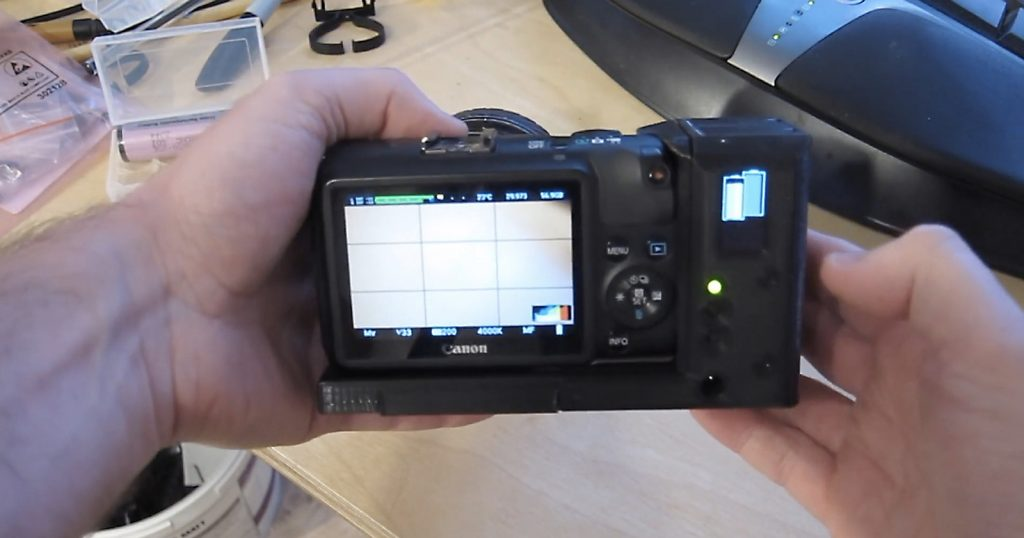 Engineer Builds a DIY Hot-Swappable Battery Grip for His Canon EOS M