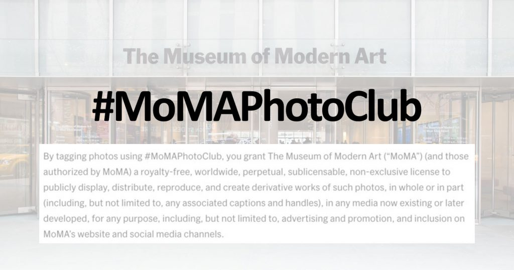 MoMA Wants Your Photos for Free, Perpetually, and 'Any Purpose'