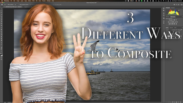 Photo Composites Made Easy with 3 Basic Photoshop Techniques (VIDEO)