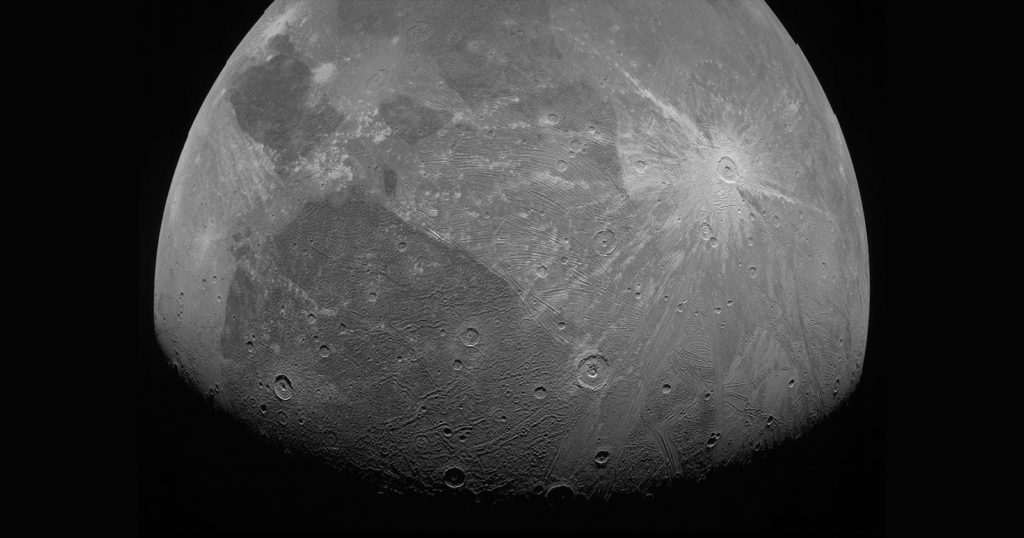 NASA's Juno Captures Close-Up Photos of Jupiter's Moon, Ganymede