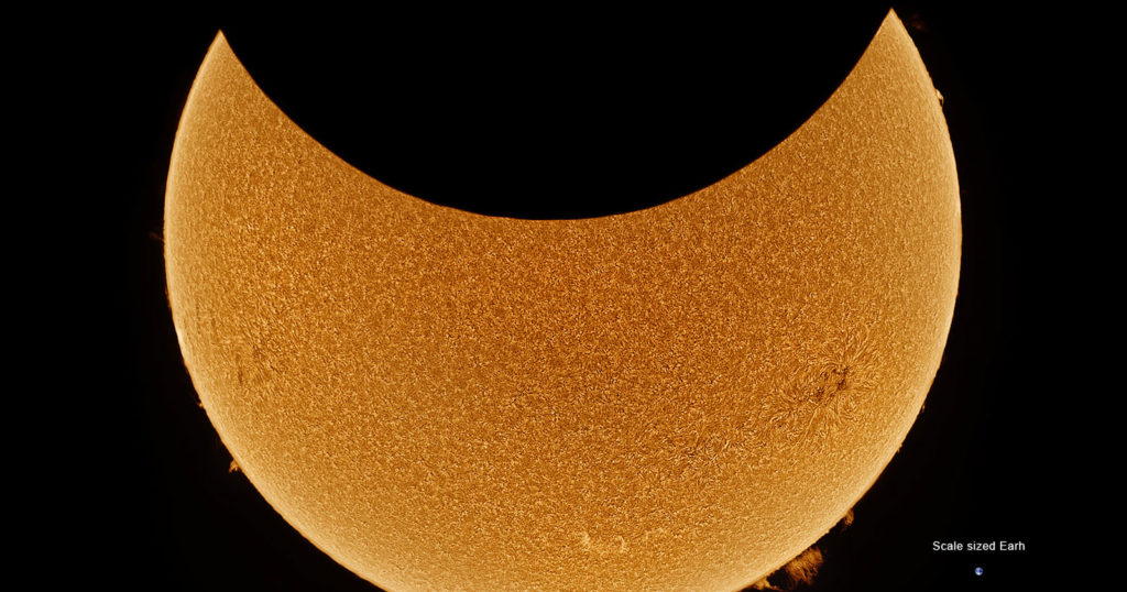 This 2021 Solar Eclipse Timelapse Was Made from 50,000 Photos