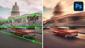 """Give Photos Dramatic """"Perspective Motion"""" and Blur with This Simple Photoshop Technique (VIDEO)"""