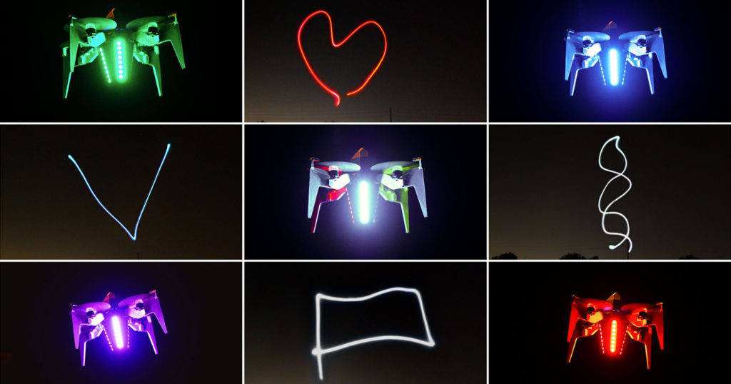 Rocketship-Like Light-Painting Drones Could Be the Future of Space Flight