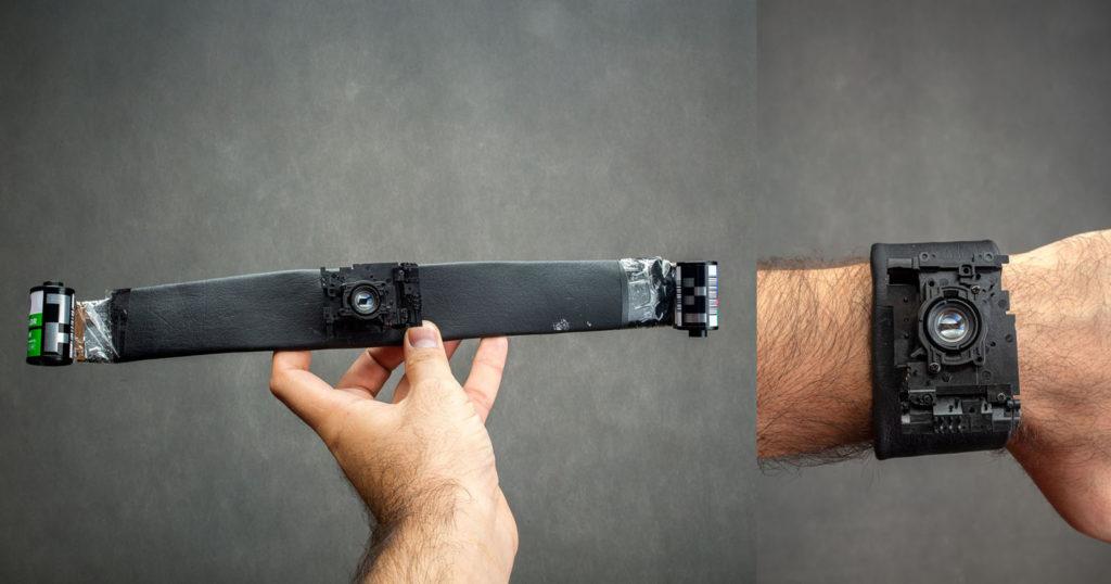 This Wrist Camera Feeds 35mm Film Through the Strap