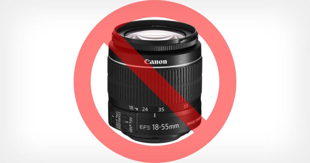 Photography Instructor Bans Kit Lenses