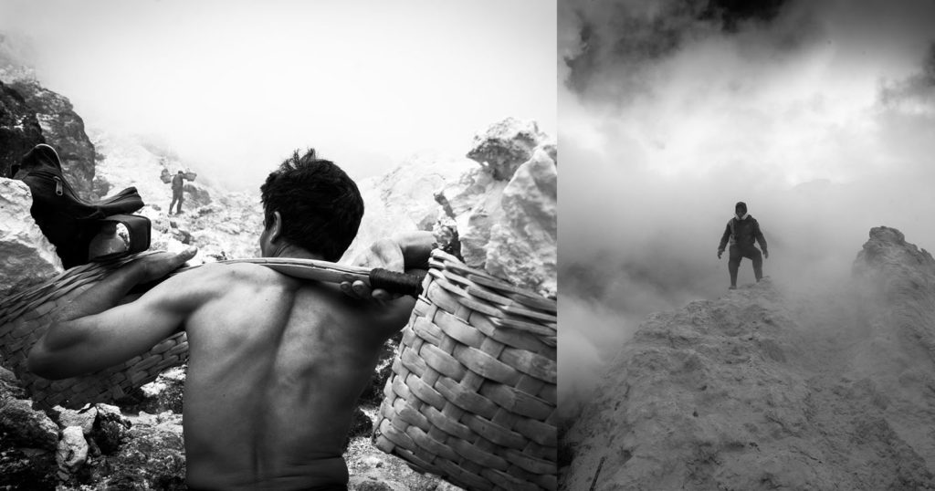 Photos of the Sulfur Miners at the Ijen Volcano in Indonesia