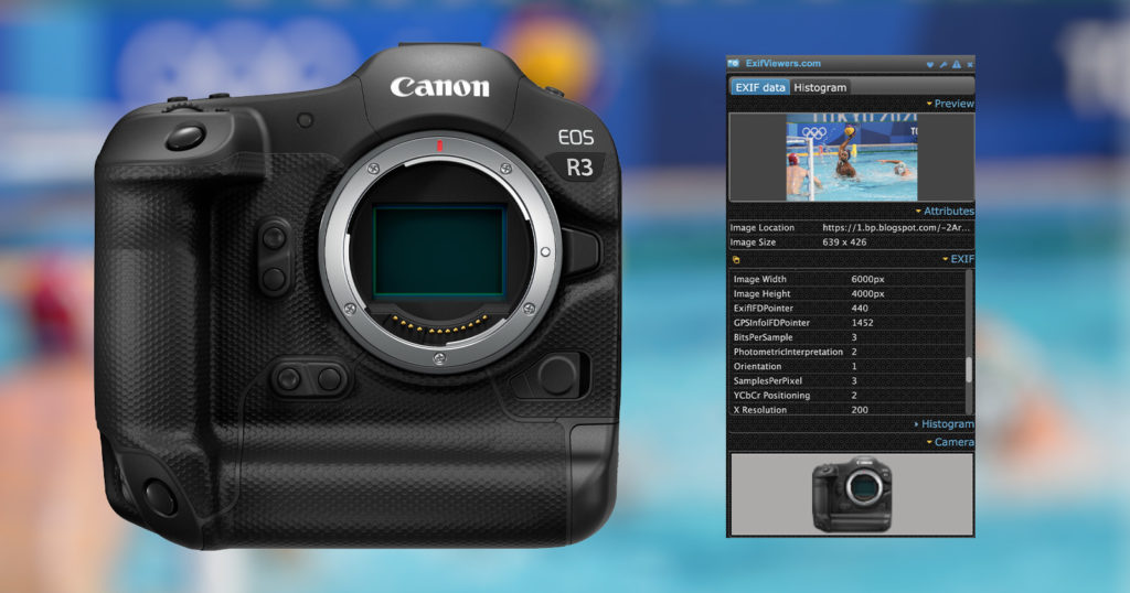 Canon R3 to Have 24MP Sensor, EXIF Data Reveals