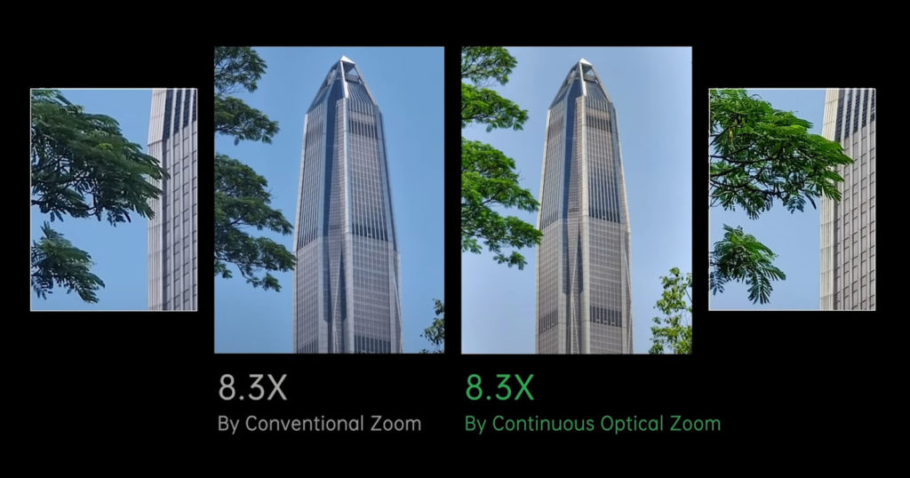 Oppo Unveils 85-200mm Continuous Optical Zoom for Smartphones