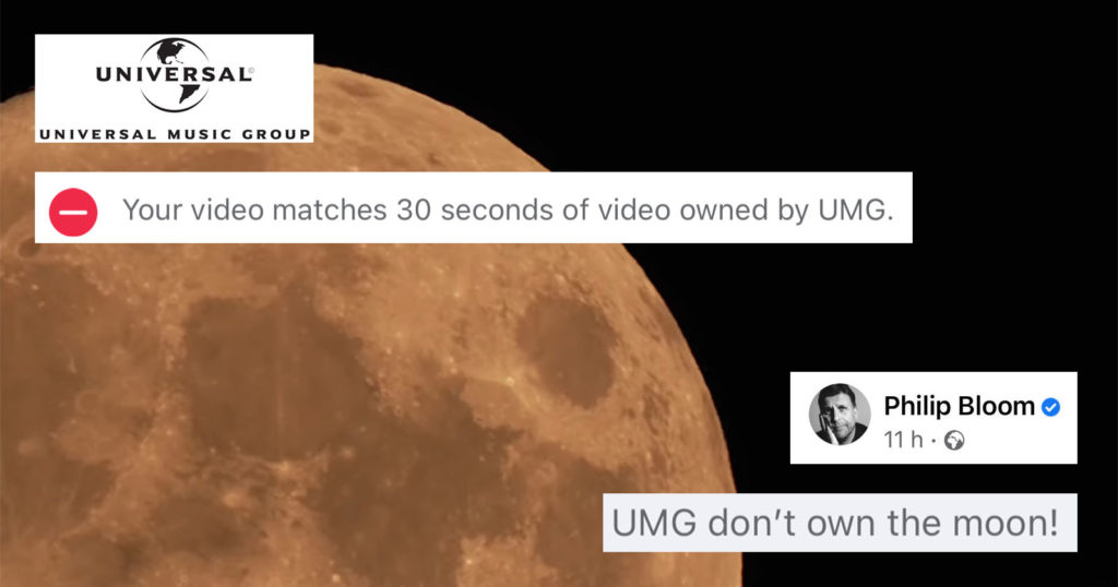 UMG Seems to Think it Copyrighted the Moon
