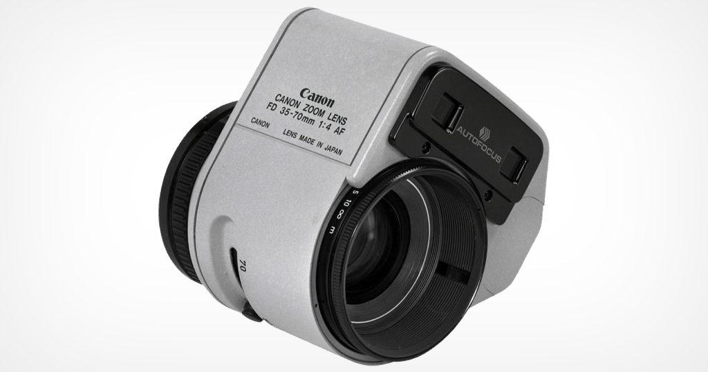 Hulking Attachment Gave Canon FD Lens Autofocus 40 Years Ago