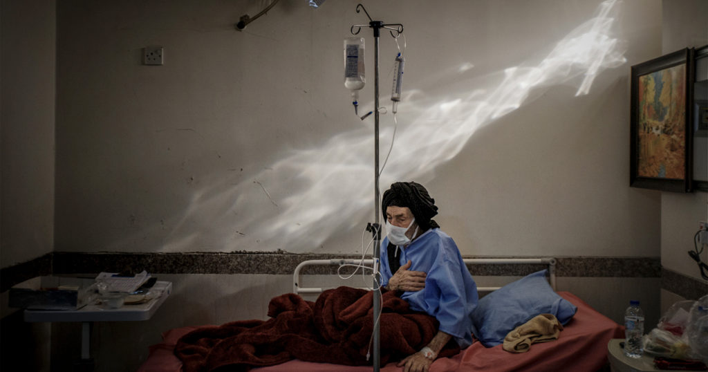 Iranian COVID-19 Patient Photo Wins Nikon Photo Contest 2021