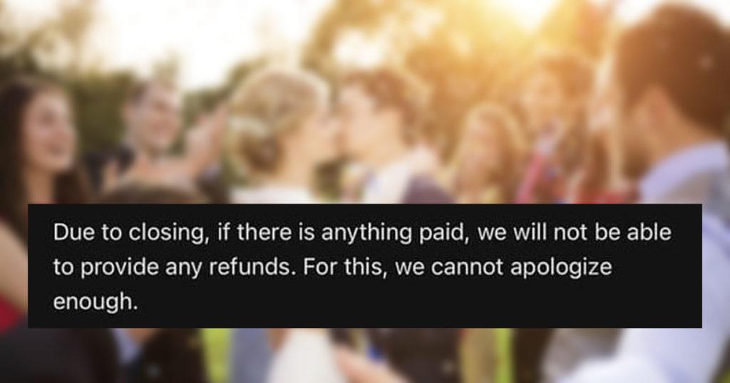 Large Wedding Photo Service Suddenly Closes, Couples Lose Everything